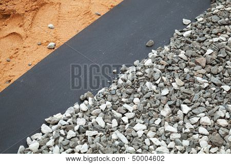 Geotextile Layer Between Gravel And Sandy Ground