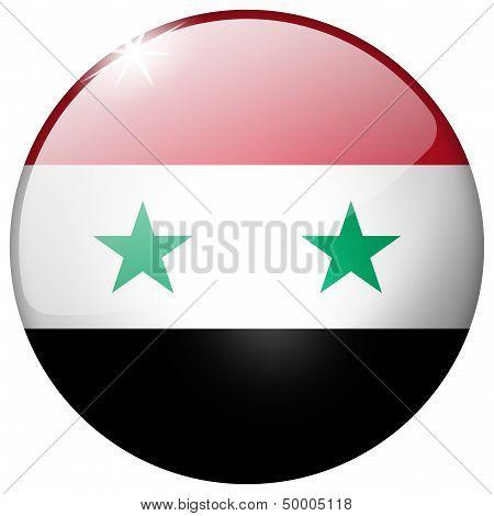 Syria Round Glass Button