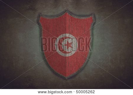 Shield With Tunisia Flag.