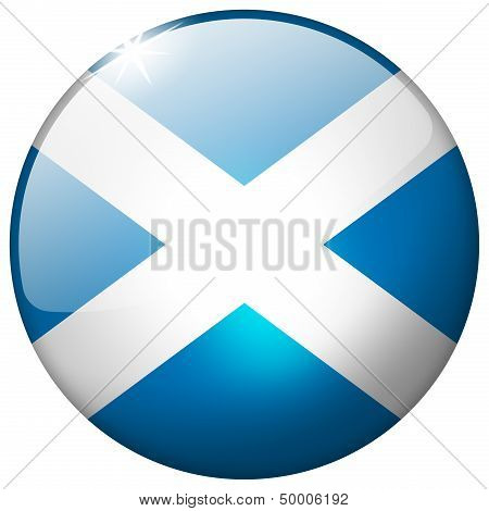 Scotland Round Glass Button