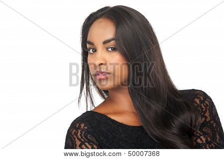 Portrait Of An Attractive Young Woman Looking At Camera