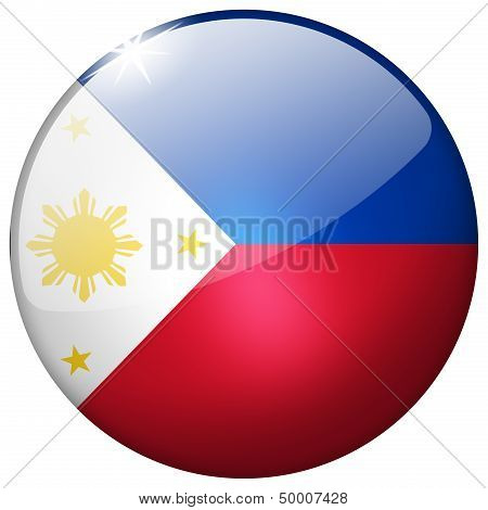 Philippines Round Glass Button