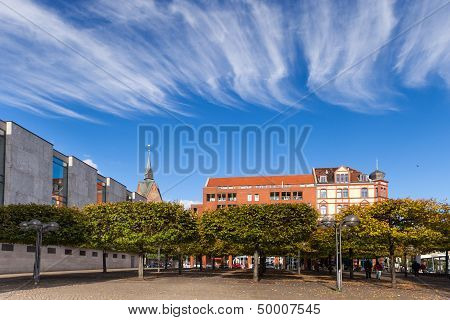 Autumn scene in a city