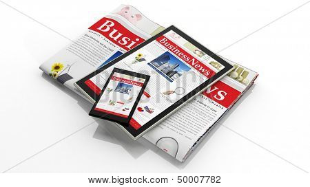 Digital business news concept