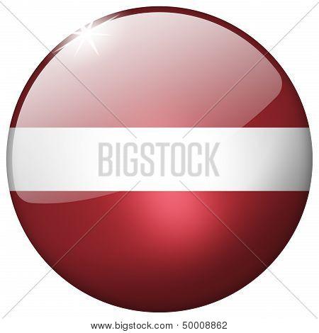 Latvia Round Glass Button