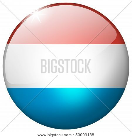 Luxembourg Round Glass Button