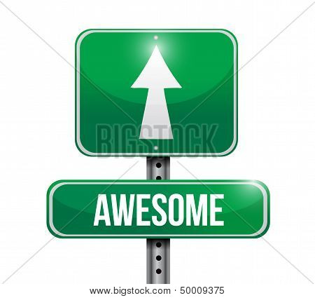 Awesome Road Sign Illustration Design