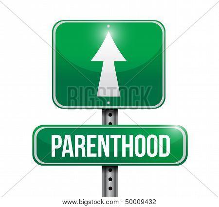 Parenthood Road Sign Illustration Design