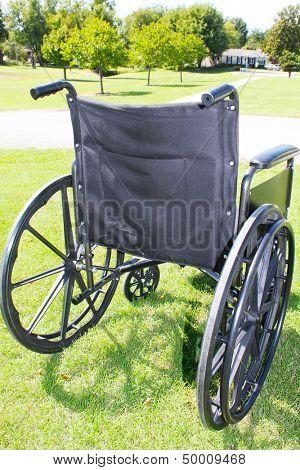 Wheelchair in a park
