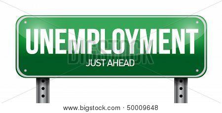 Unemployment Road Sign Illustration Design