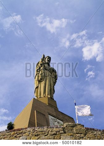 Jesus Monument In San Sebastian