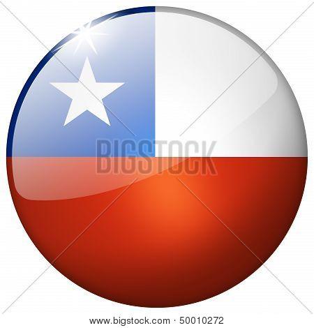 Chile Round Glass Button