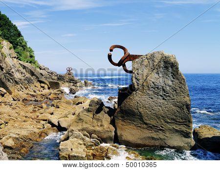 Famous Sculpture In San Sebastian, Spain