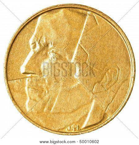 5 Belgian Franc Coin