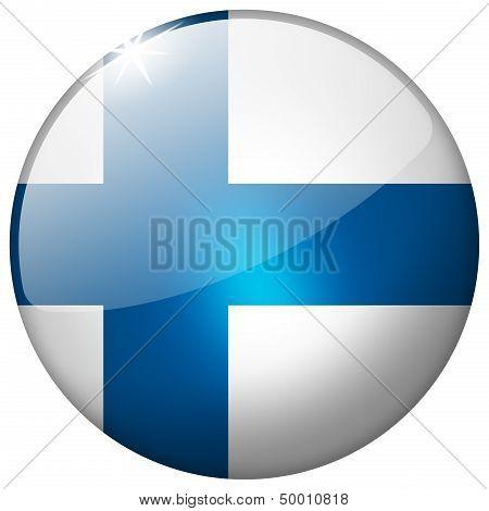 Finland Round Glass Button