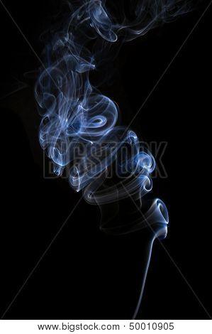 Smoke Isolated On Black.