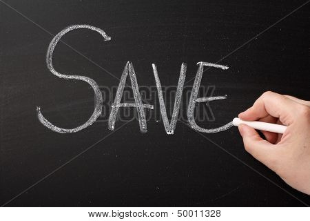 The word Save