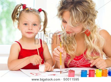 Child With Mother Painting