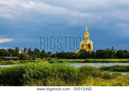 Wat Muang Giant Buddha In Angthong Province, Thailand