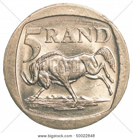 5 South African Rands Coin