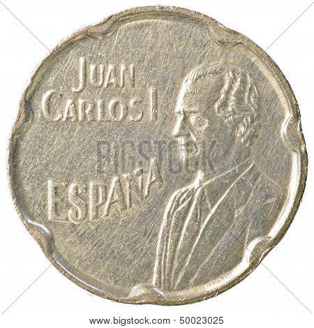 50 spanish pesetas coin