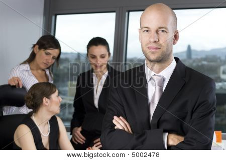 Businessteam of four people