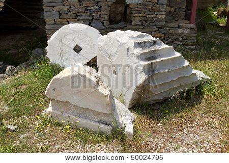 Mausoleum at Halicarnassus in Bodrum Town, Turkey poster