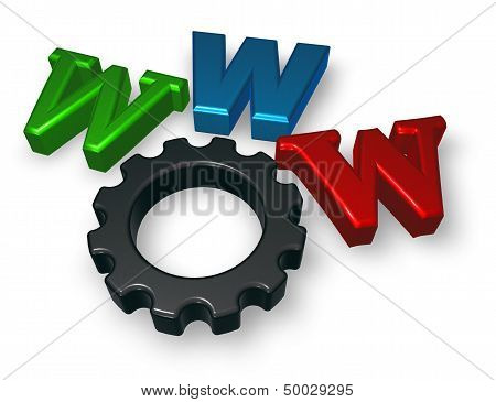 Www Letters And Cogwheel