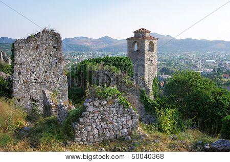 ruins of Stari Bar old fortress, Montenegro