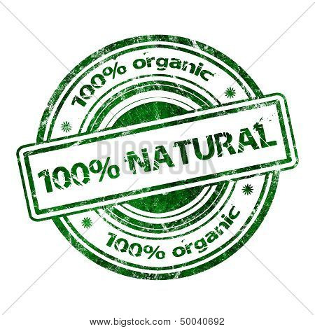 100% Natural Organic Grunge Rubber Stamp