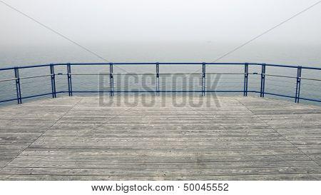 Foggy Wooden Deck