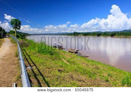 Hot Day In Mekong River