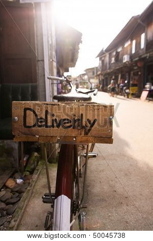 Delivery Concept At The Basket Trailer