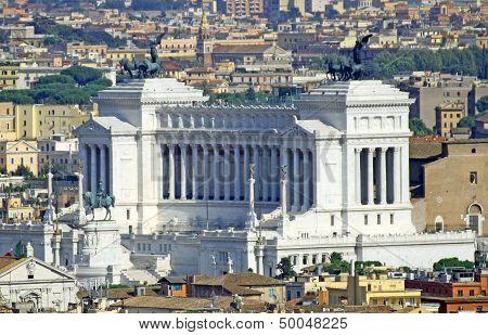 Huge Vittoriano Monument Dedicated To Vittorio Emanual Ii King