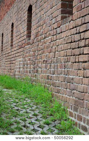 Path along fort wall