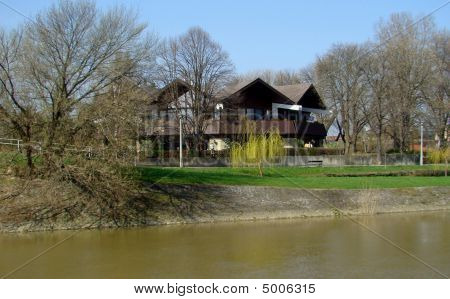 Large House By River
