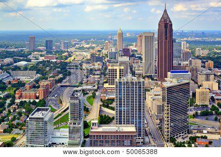 Downtown Atlanta, Georgia, USA skyline.