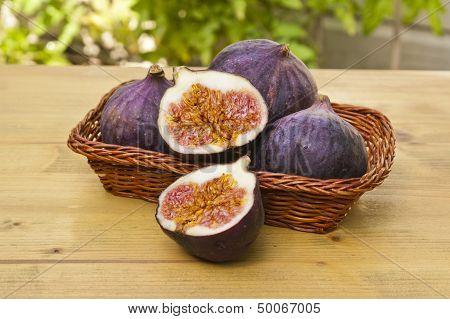 Fresh Figs On A Basket