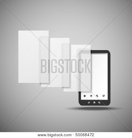 Smartphone With Layers | Business Vector Illustration