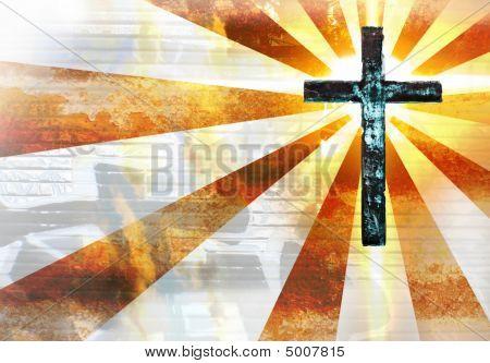 Grunge Metal Cross