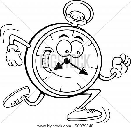Cartoon pocket watch