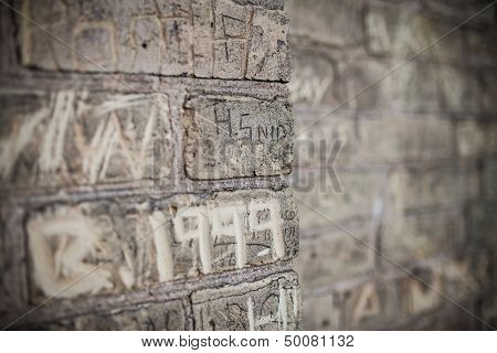 Carved brick