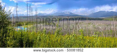 Panoramic view of scenic Montana