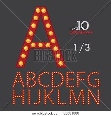 Set Of Broadway Vector Alphabet Letters