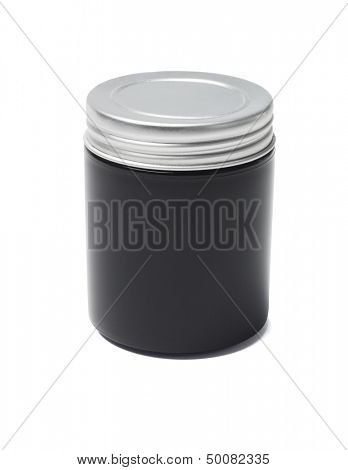 Black Cosmetic Container On White Background