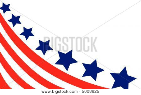 USA flag in style vector illustration on white background poster