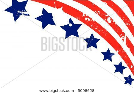 Usa Flag In Style Vector