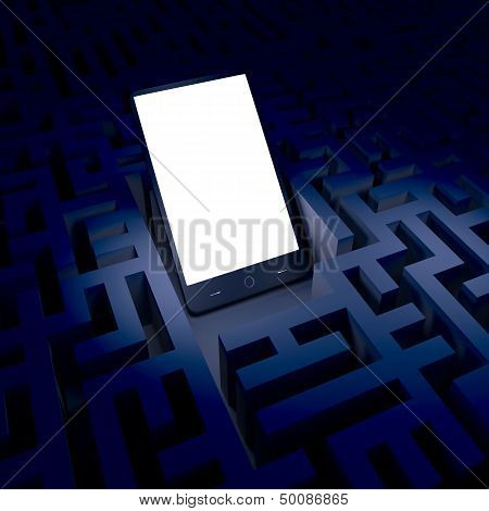 Phone in the dark labyrinth