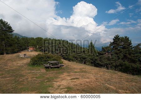 Hiking In Natural Park In Italy