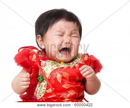 Chinese baby girl crying